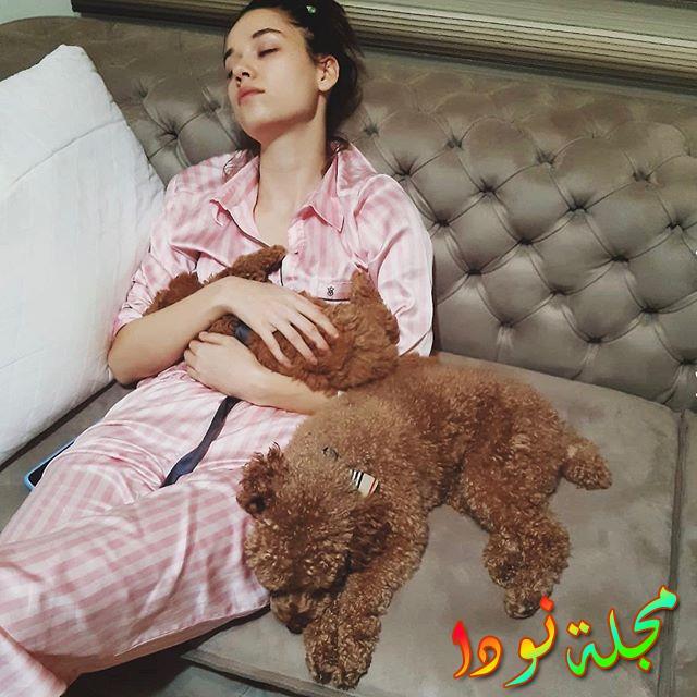 التركية مع كلبها