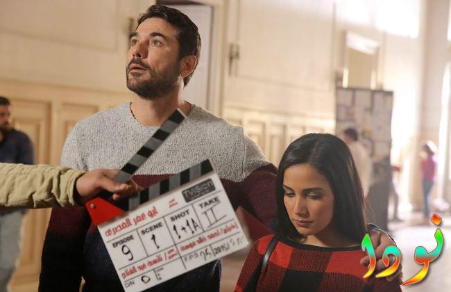 نادية مع أحمد عز من مسلسل أبو عمر المصري