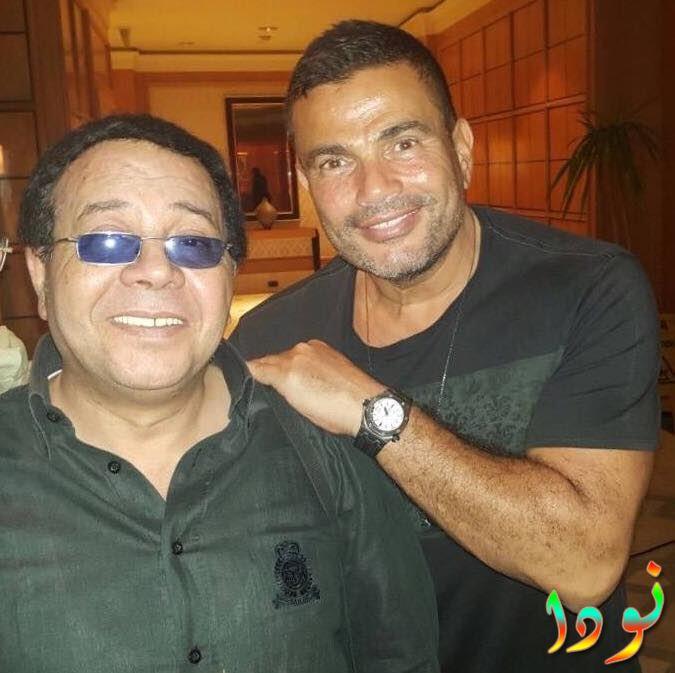 أحمد آدم مع عمرو دياب