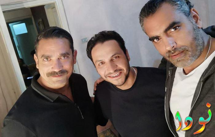 أحمد كرارة مع أخوه أمير كرارة من كواليس كلبش 2