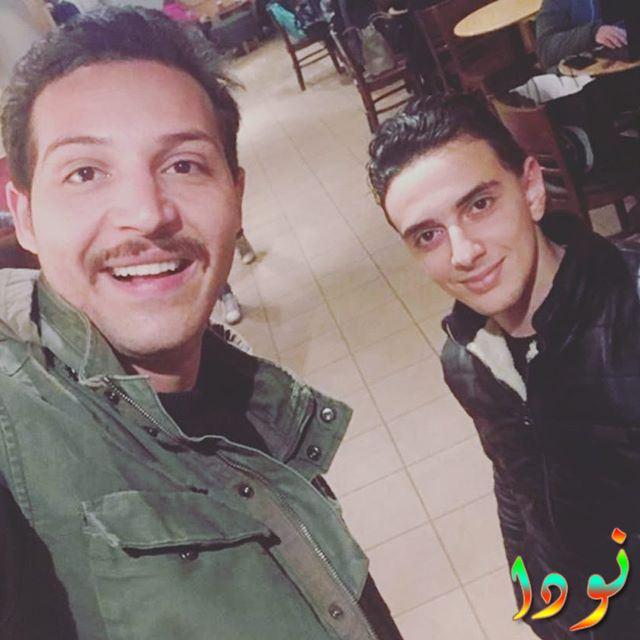 أسامة طلبة مع الفنان محمود حجازي