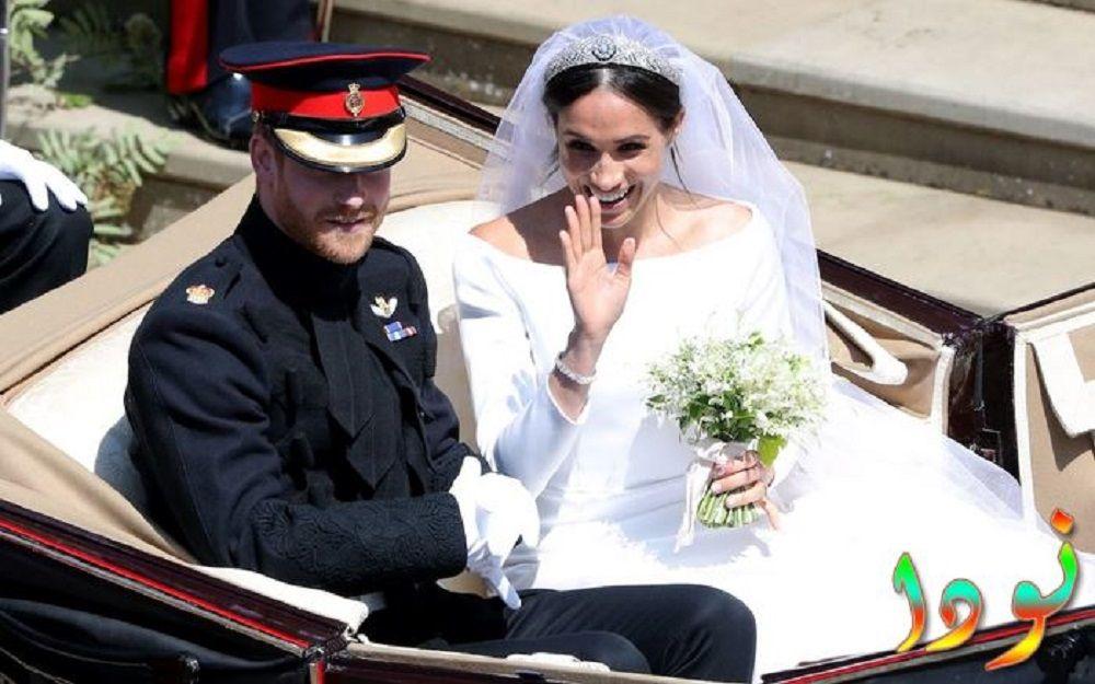 الأمير هاري وميغان ماركلي يغادران مصلى كنيسة القديس جورج