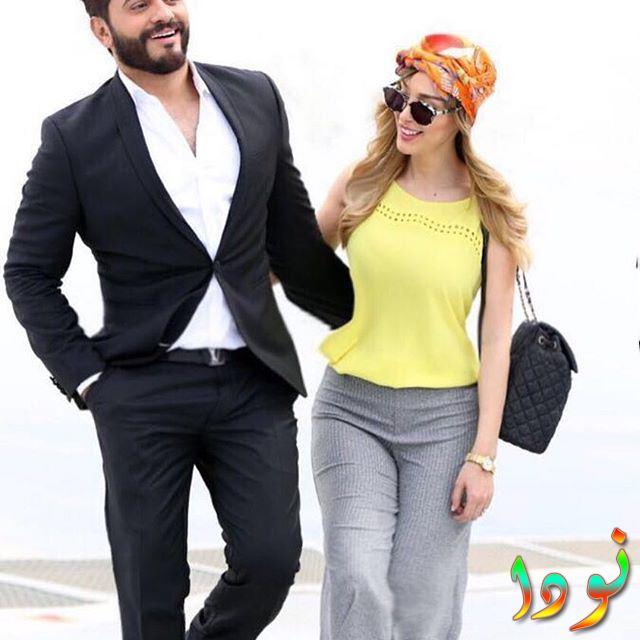 تامر حسني مع زوجته