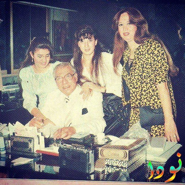 رانيا فريد مع والدها وأخواتها