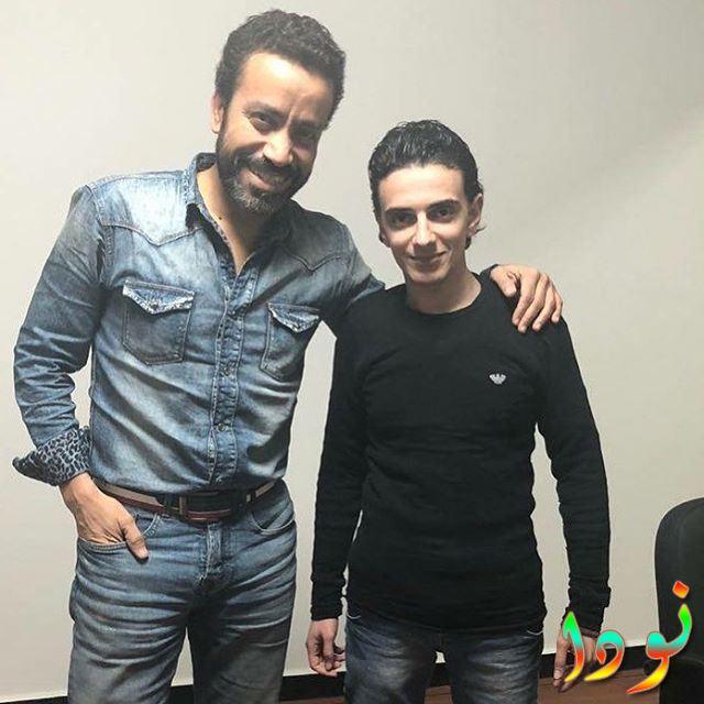 سامح حسين مع الفنان الشاب أسامة طلبة