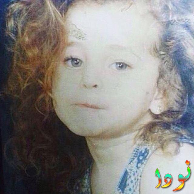 صورة سارة الشامي وهي صغيرة