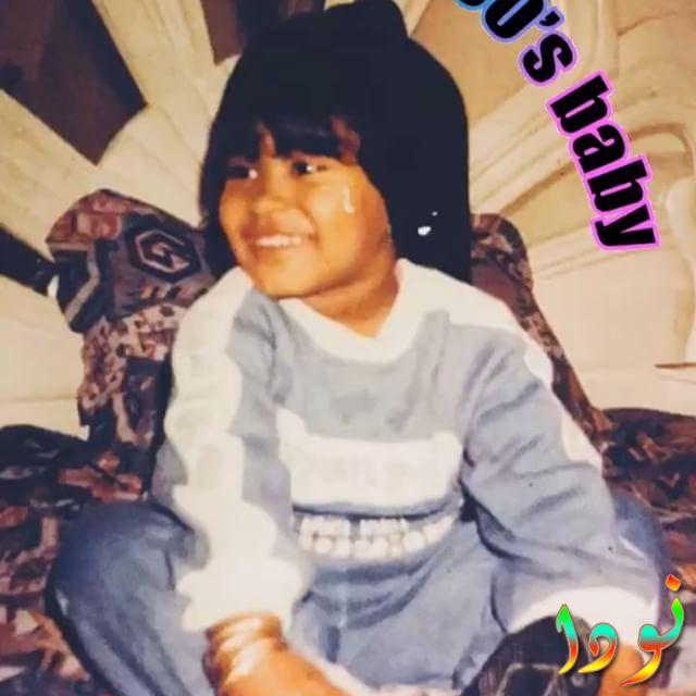 صورة لسعاد الحسيني وهي صغيرة