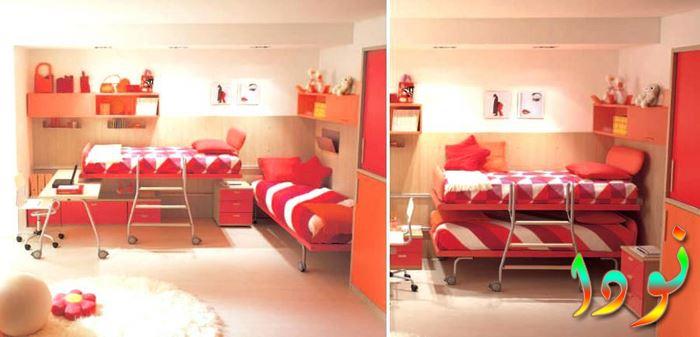 غرفة بسريرين