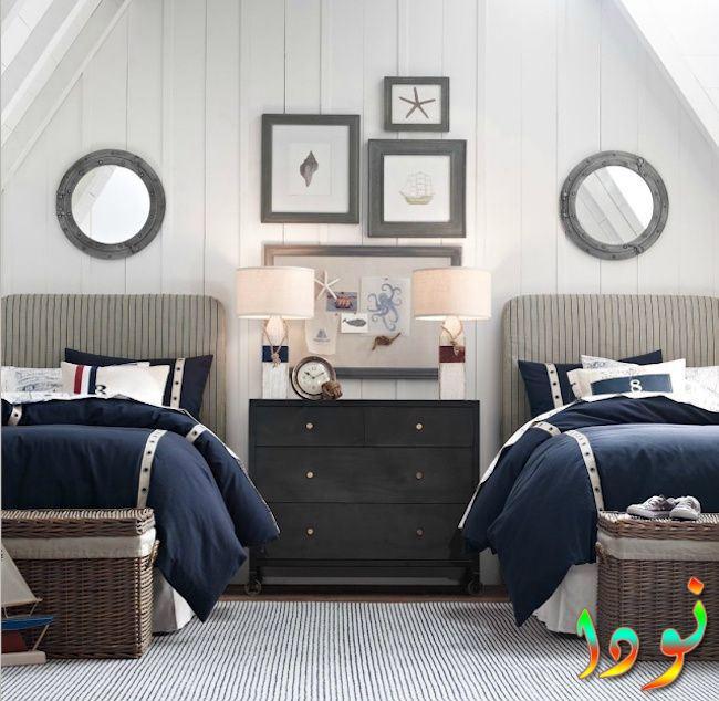 غرفة نوم أطفال بسريرين جديدة