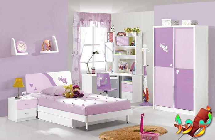 غرفة نوم أطفال واسعة دولاب جرار