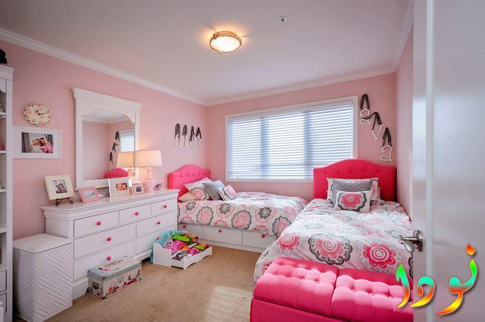 غرفة نوم للبنات بسريرين