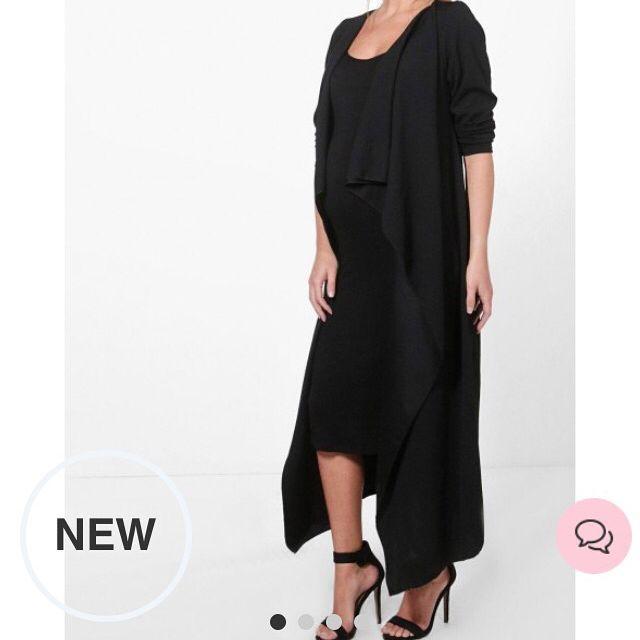 فستان قصير مع كارديجان طويل