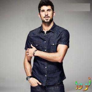 80ba67c43ff6a ... ملابس رجالي كاجوال صيفي أحدث الملابس الرجالية. قميص جينز نص كم سلم مع  بنطلون جينز بنفس اللون
