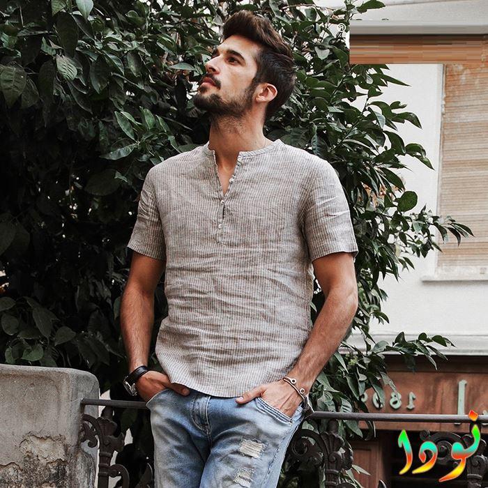 قميص مقفول كم قصير صيف 2018