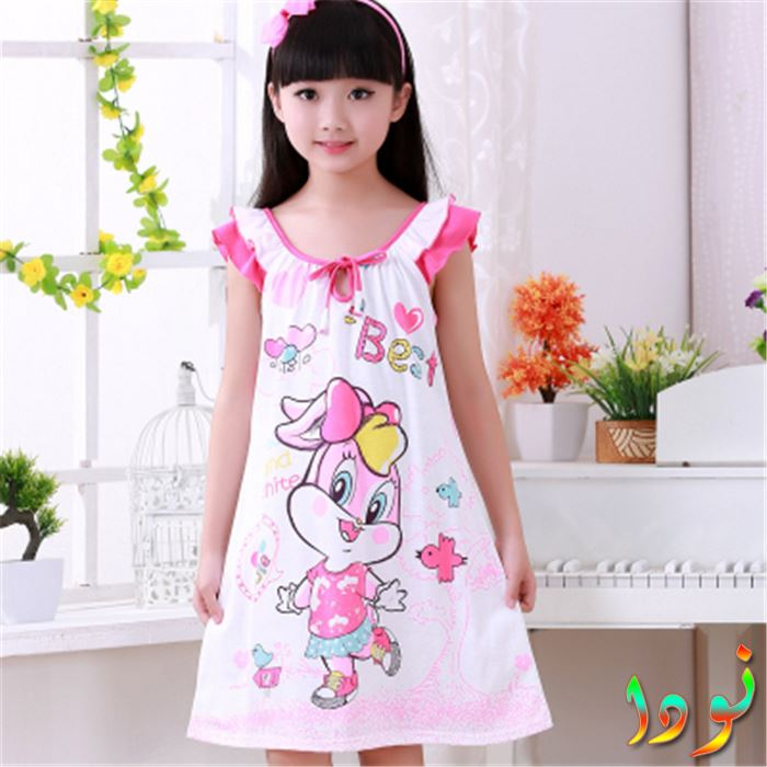 8e7dc09df قميص نوم أطفال وردي في فوشية