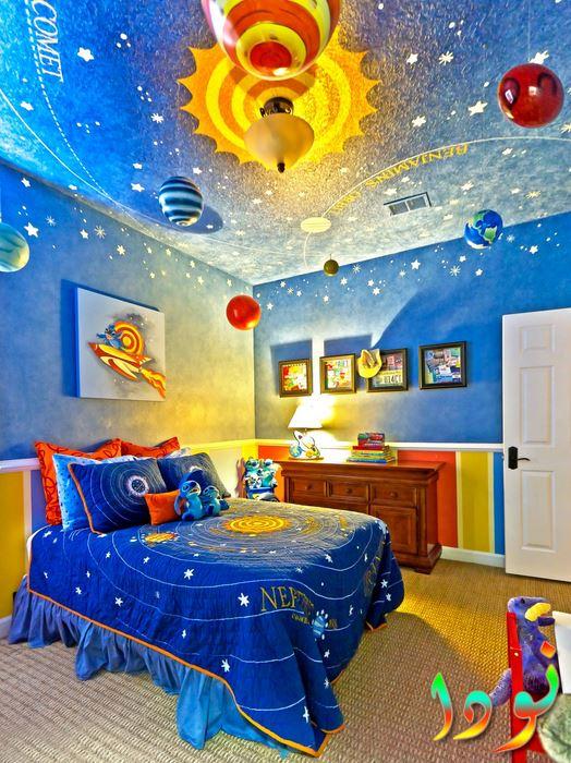 للأطفال محبي الفضاء ديكور فضائي