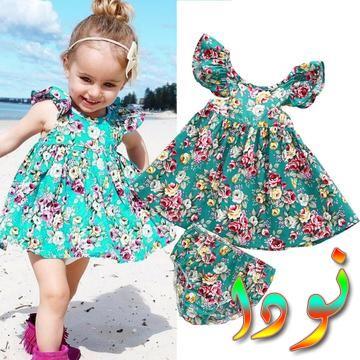 ملابس طفلة صغيرة فستان مكشكش