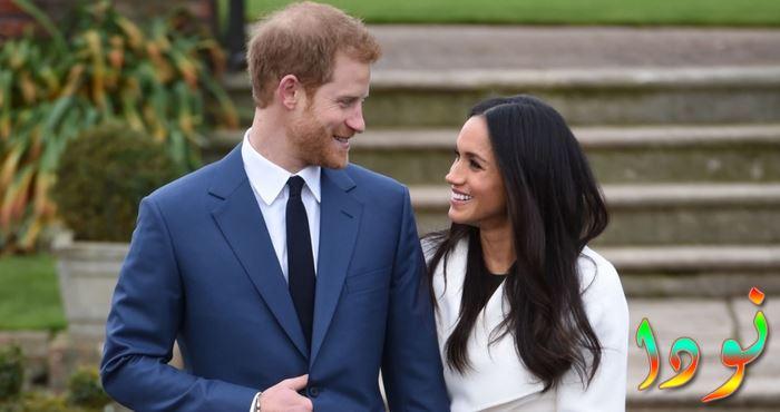 ميجان ماركل الأمير هاري مع زوجته