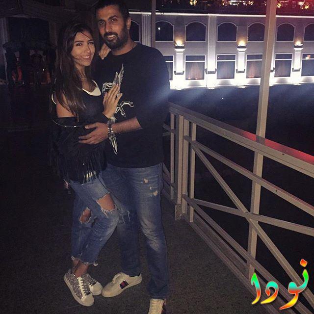 مي عمر مع زوجها