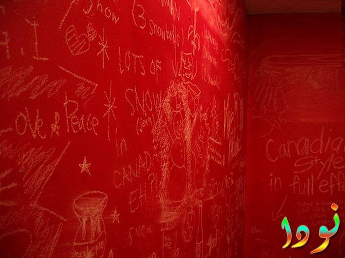 دهانات قطيفة لغرف نوم الأطفال باللون الأحمر