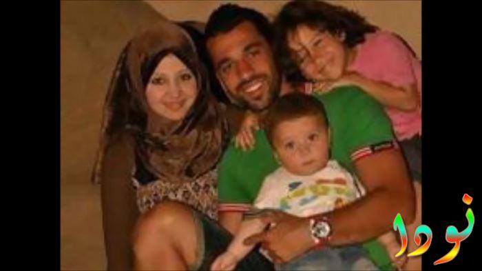 عبد الله السعيد مع عائلته ( زوجته و أولاده )