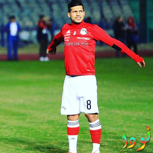 لاعب المنتخب المصري طارق حامد