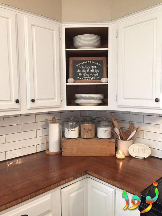 مطبخ لاكيه أبيض