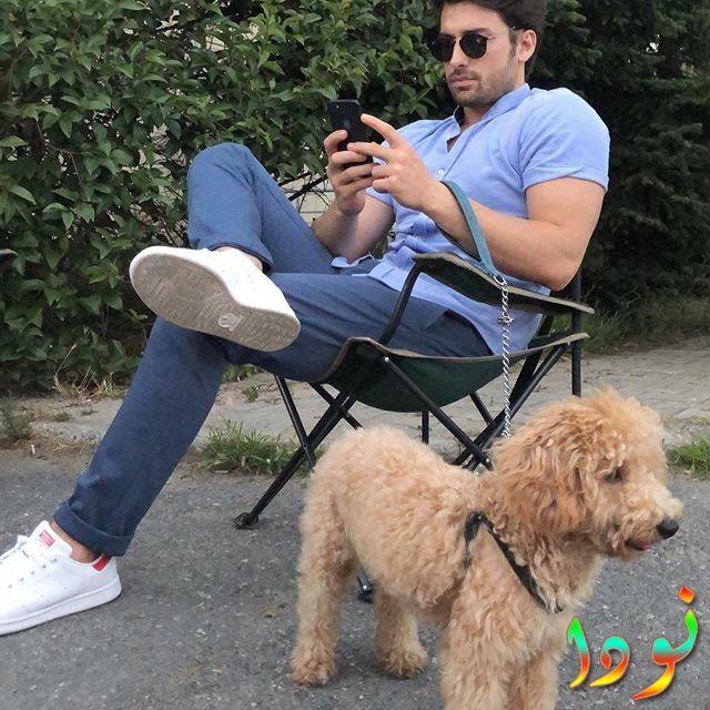 ألب نافروز مع كلبه