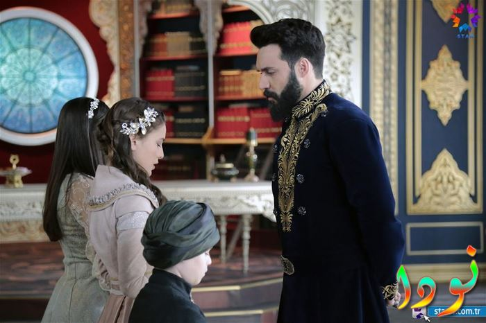 السلطان محمود خان مع أولاده