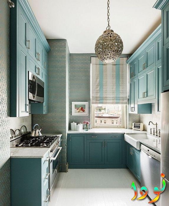 اللون التركواز الجديد لأحلى مطبخ