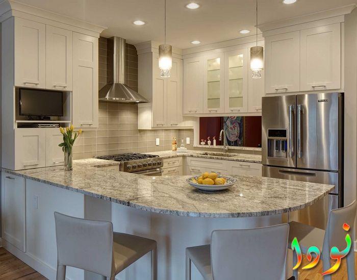 صورة لديكور مطبخ مفتوح متوسط الحجم