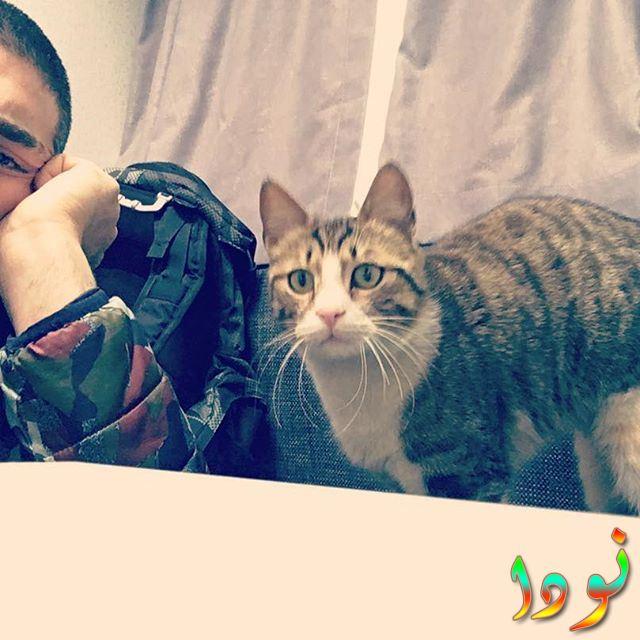 صورة لشوكرو أوزيلديز مع قطته