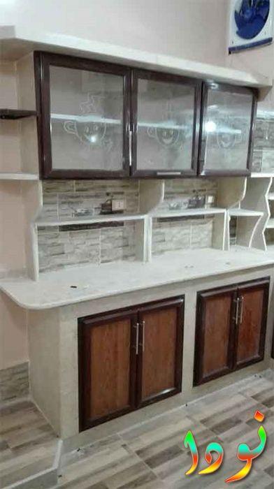 صورة لمطبخ رخامي أبيض