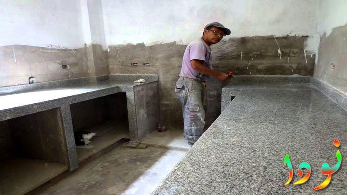 كيفية بناء المطبخ الرخامي