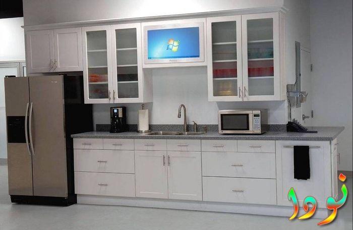 مطبخ أبيض الوميتال خزينة واحدة