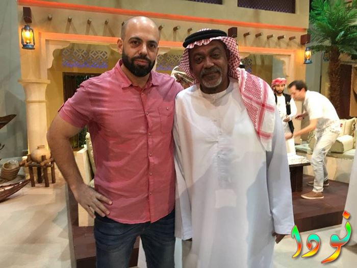 أحمد الأنصاري مع مهندس الصوت بهاء
