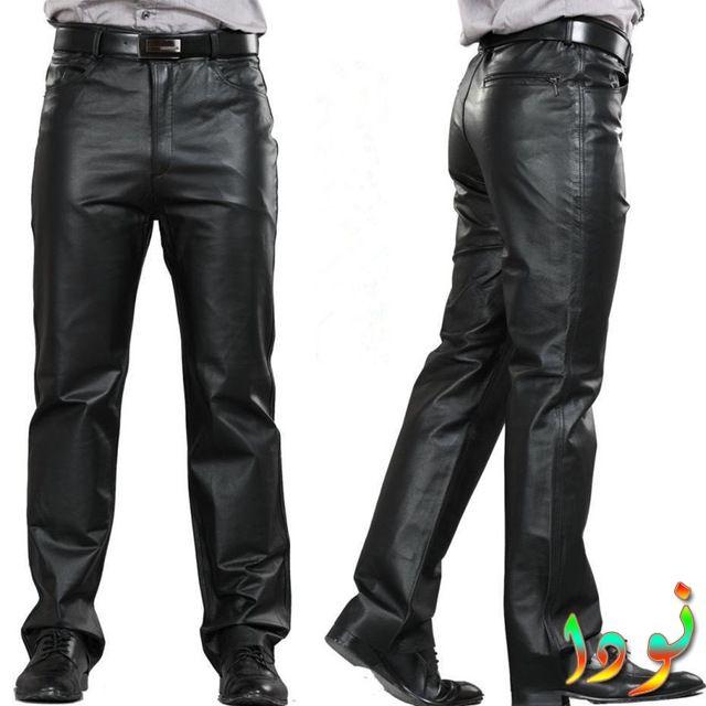 بنطلون رسمي جلد أسود