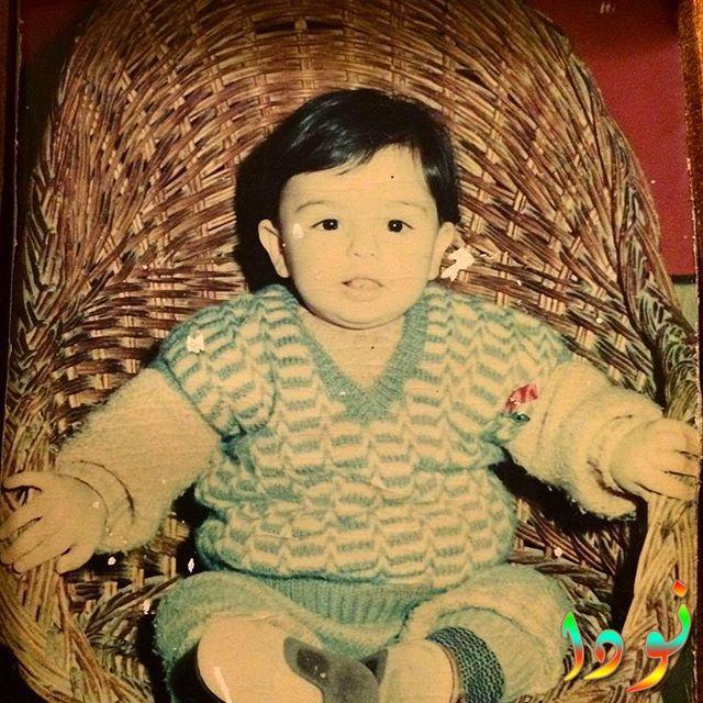 صورة لعلي اكدال وهو طفل