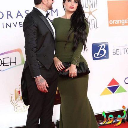 أحمد الفيشاوي وزوجته ندى