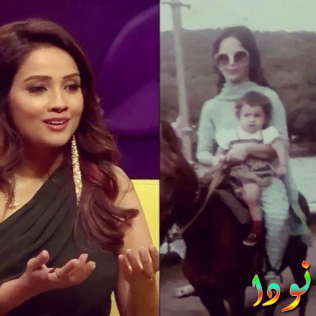 ادا خان وهي طفلة صغيرة