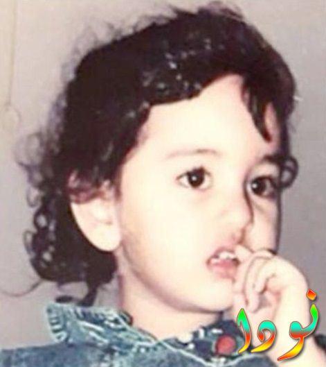 سوناكشي سينها وهي طفلة