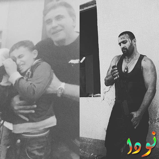 أحمد السقا وهو صغير مع والده