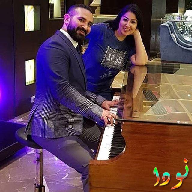سمية الخشاب وزوجها أحمد سعد