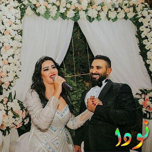 صورة من حفل زفاف سمية الخشاب على أحمد سعد