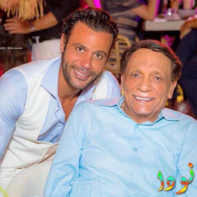 محمد إمام مع والده
