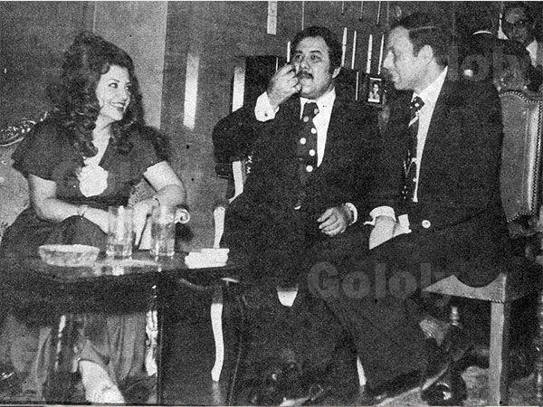 محمد الشربيني زوج ليلى طاهر في إحدى الحفلات