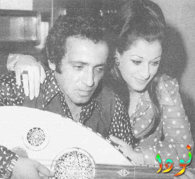 وردة الجزائرية مع زوجها