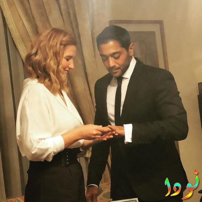 أحمد فلوكس وهنا شيحة في حفل كتب كتابهم