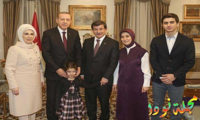 أردوغان وزوجته وأولاده