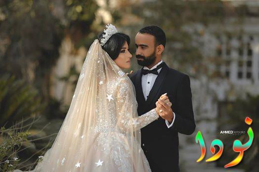 الممثل محمود الليثي وزوجته
